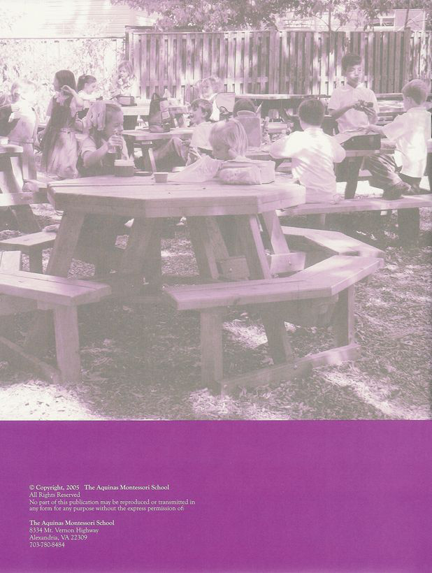 Back Cover — Montessori School: A Typical Day Prepared by Kathleen H. Futrell